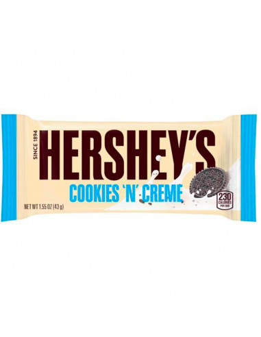 HERSHEY TABLETTE CHOCOLAT COOKIES AND CREME